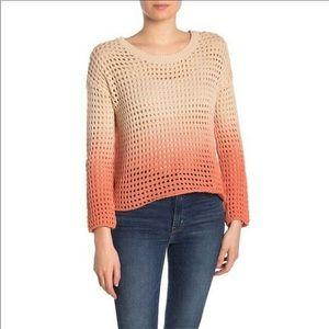 GOOD LUCK GEM Orange Ombré Cotton Knit Sweater NWT